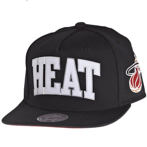 Mitchell & Ness - Casquette Snapback Homme Miami Heat Blacked Out Sonic - Black
