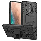 PUSHIMEI LG Stylo 5 Case,LG Stylo 5X/Stylo 5V/Stylo 5 Plus case, with Kickstand Hard PC Back Cover Soft TPU Dual Layer Protection Phone Stand Case Cover for LG Stylo 5/5V/5+/5X(Black Kickstand case)