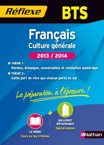 Français BTS - Deux thèmes d'étude 2013 - 2014