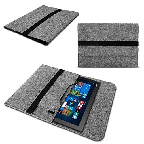 Sleeve Tasche für Dell Venue 11 Pro Hülle Grau Notebook Filz Cover Tablet Hülle
