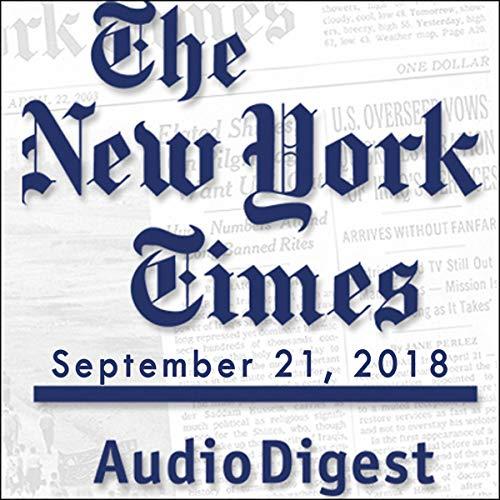 September 21, 2018 copertina