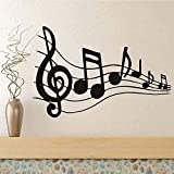 Pegatinas de pared de PVC partitura de música vinilo pegatinas de pared para sala de estar partitura de música decoración del hogar 44 * 29 cm