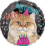Amscan 3539801 Happy Birthday - Globo, diseño de gato , color/modelo surtido