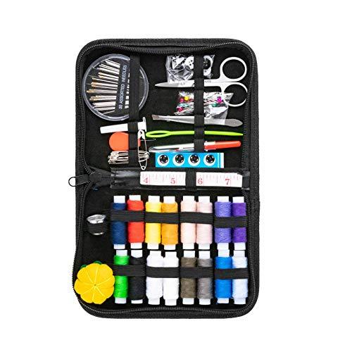 Niviy Kit de Costura 82 Piezas Accesorios de Costura Set de Costura Portátil Costurero para Emergencia en el Hogar o en Viajes Familia Bricolaje