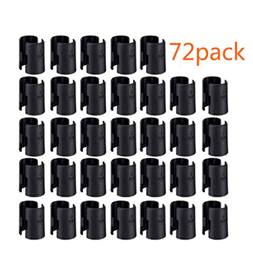 """WAFJAMF 72 Pack Wire Shelving Shelf Lock Clips for 1"""" Post- Shelving Sleeves Replacements for Wire Shelving System"""