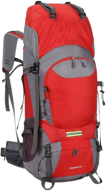 WuJiPeng Outdoor Wandern Camping Rucksack Groe Kapazitt 60L Mehrzweck Bergsteigen Abenteuer Rucksack Wasserdicht Und Langlebig