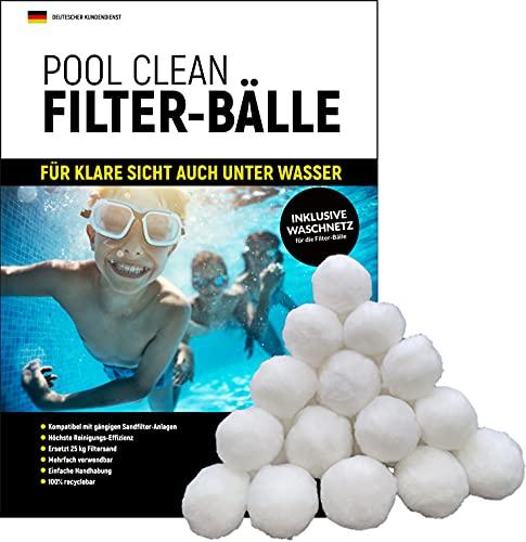 IBR Pool Clean Filterballs inkl. Waschnetz, Filterbälle für Sandfilteranlagen zur professionellen Schwimmbad- und Poolreinigung, 700g aus Deutschland