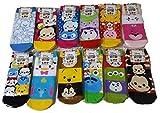 ディズニー かわいい 靴下2 12種類柄12足1セット
