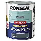 Ronseal ASINOAUK30K 10 Year Weatherproof Paint, Grey, 750ml
