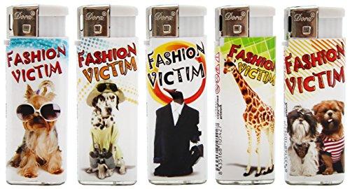 5er Set Dora Elektronik Feuerzeug Mini im Fashion Victim Design