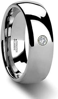 BERKSHIRE Domed Diamond Tungsten Ring - 8mm