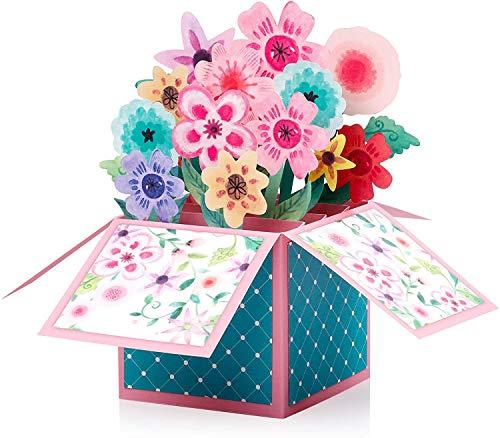 3D ausgeworfene Blumenstrauß-Karte,Muttertagskarte,Geburtstagskarte,Dankeskarte,Jubiläumskarte,handgemachte ausgeworfene Karte für verschiedene Gelegenheiten