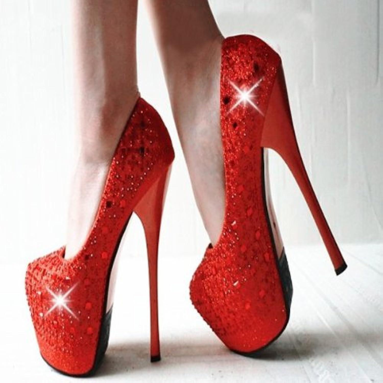 Optimal Women Bling Rhinestone Platform High Heels