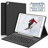SENGBIRCH Tastatur für iPad 10.2 2019, iPad Hülle mit Tastatur für iPad 7 mit Bluetooth Tastatur, Kompatibel mit iPad 10.2/10.5 / Air 3 - Schwarz