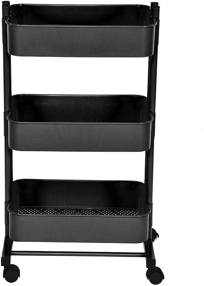 YIKXCF Triple Layers Organizer New life Cart Kitchen Space In stock Storage w Save