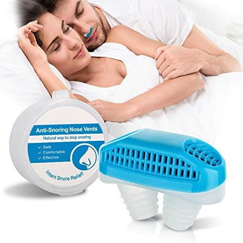 Anti Snoring Device Nose Vent Plugs, Snoring Solution and Air Purifier Filter Nasal Dilators Stop Snoring Devices Snore Stopper Nose Vent Clip Sleep Aid for Cometable Sleeping Breathing Women Men