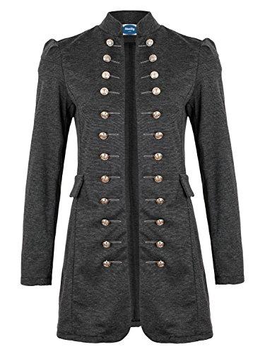 4tuality AO Massimo Military Coat Slim Fit Gr. XL Dunkelgrau