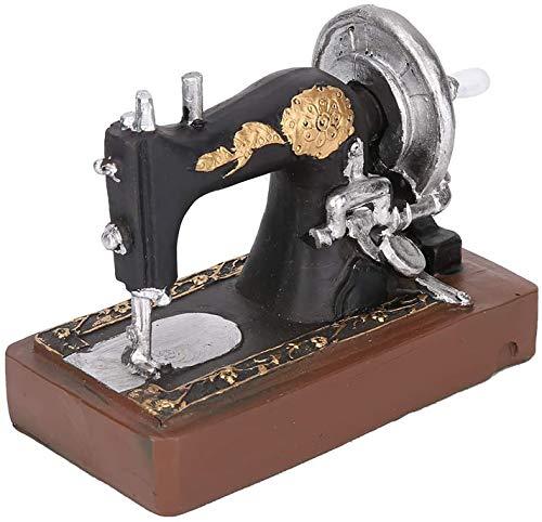 Rétro couture décorations de machine de couture rétro couture horlogework boîte de musique de couture analogique machine maison table décoration cadeaux cadeaux collection ornements ( Color : Black )