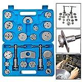 Froadp - Juego universal de herramientas para recolocar pistones de freno con maletín de plástico, incluye adaptador de placas de retención