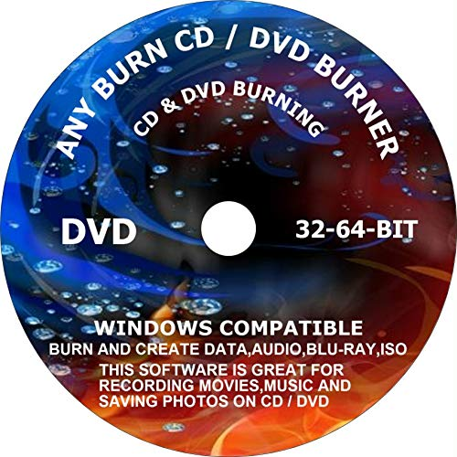 ANYBURN CD/DVD BURNER DVD TOOL. BURN AND CREATE DATA, AUDIO, BLU-RAY, ISO. COMPATIBLE WITH MICROSOFT WINDOWS PC. This software is great for recording Movies, Music and saving Photos on CD/DVD.