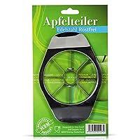 Apfelteiler aus Edelstahl schnelles und einfaches Teilen eines Apfels in Form eines Apfels müheloses entkernen einfach den Teiler mittig ansetzen und drücken