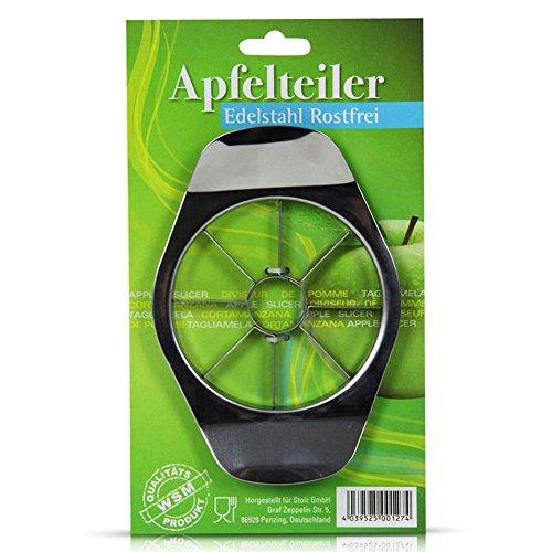 Apfelteiler aus Edelstahl, Apfelschneider, müheloses entkernen, einfach und schnell anzuwenden