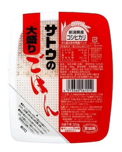サトウのごはん 新潟県産コシヒカリ 大盛 300g×6個