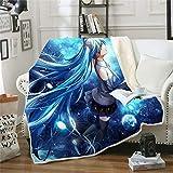 BLUU Hatsune Miku Blanket Anime Coral Fleece Blankets Soft