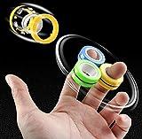 globel shree enterprise || pack of 3 magnetic rings toy magical finger spinning toy spinner magnetic...