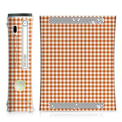 Skin kompatibel mit Microsoft Xbox 360 Aufkleber Folie Sticker Karo Picknick Decke