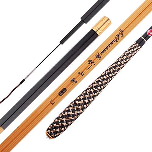 Zcx Canna da Pesca di bambù/Calamaro Ultra Leggero 碳/Manette A Sezione Lunga Telescopica in Carbonio/Manico per Maglieria/Attrezzatura da Pesca (Size : 4.5m)