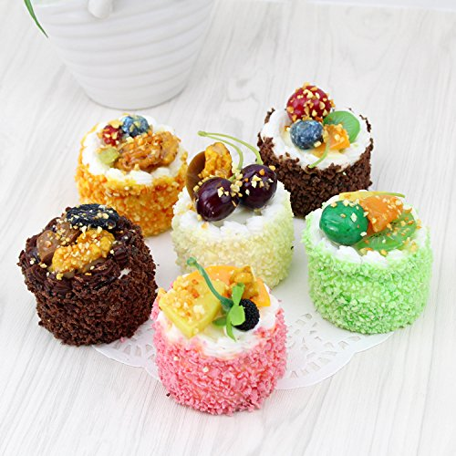 Nice purchase Fake Cake Cupcake Simulation Artificial Food Cake Sprinkle Kitchen Decoration Display Props (Circular)