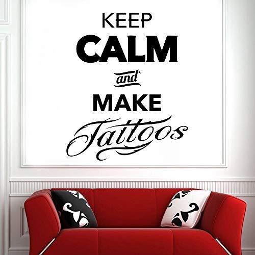 JXWH Houd je rust en maak de stickers voor de muur, tattoo-shop, logo, muurstickers, vinyl, decoratie voor de woonkamer, design-behang