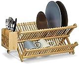 DTKJ bandeja de cocina pone un tazón de estante bandeja de almacenamiento de drenaje 42x35x3.5cm (17x14x1inch)