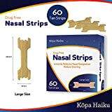 Kopa Haiku 60 Large Nasal Strips, Anti Snoring, Relieves Nasal Congestion, for Better Breathing & Good Sleep