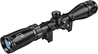 CVLIFE 3-9x40AO Optics R4 Reticle Crosshair Scope with 20mm Free Mounts