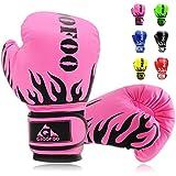 Kids Boxing Gloves 4oz Punching Gloves for Kids 3-8 Traning Gloves for Punching Bag Kickboxing Sparring Muay Thai MMA Fight Gloves - Pink