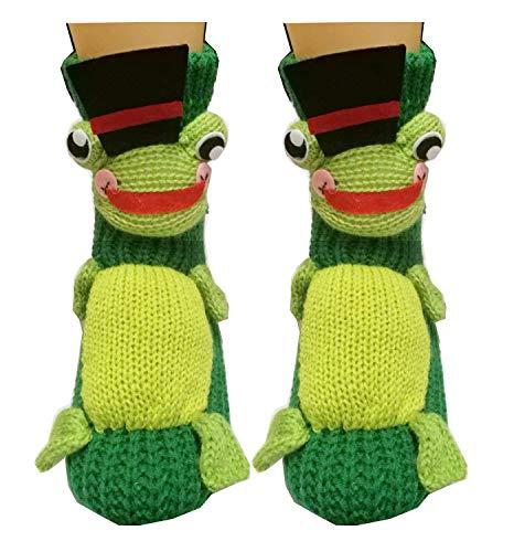 Non-Slip Knit Sweater Warm Household Floor Socks for Women