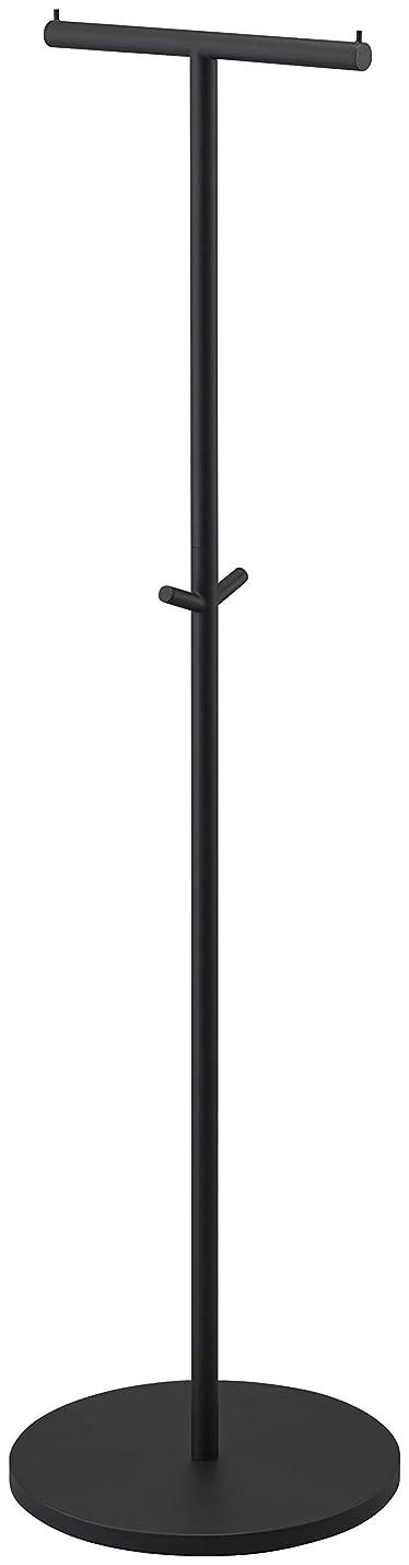 臭いメキシコバンカー山崎実業(Yamazaki) コートハンガー ブラック 約W36.5XD36.5XH140cm smart 4081