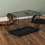 Pet Vida Pet Cage With Tray, Folding Dog Puppy Animal Crate...