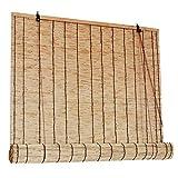 LLXNQ026 Cortina De Paja Natural Sombras De Bambú Persianas Enrollables De Bambú Retro Estores Plisadas Impermeables Cortina De Partición Decorativa,para Restaurante, Balcón, Jardín(120cm*180cn)