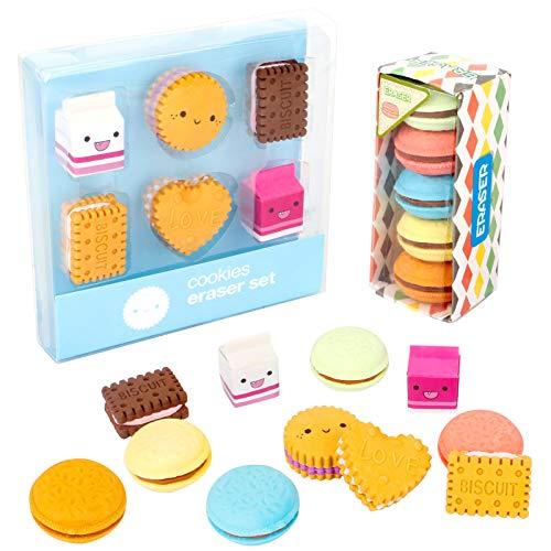 22 pezzi simpatici gomme da cancellare novità gomme per bambine, gomme creative Macaron per scuola aula premi regali per feste