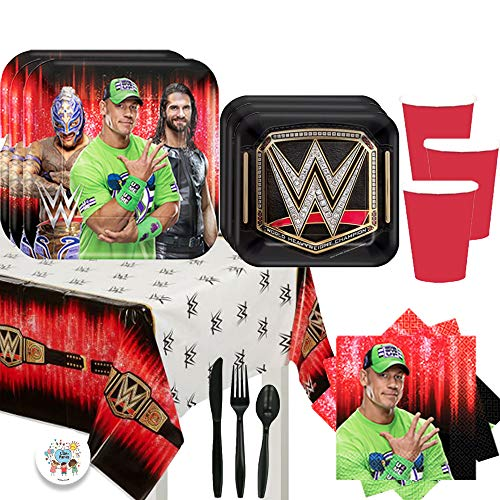 WWE Birthday Party Supplies (Serves 16 Guests)
