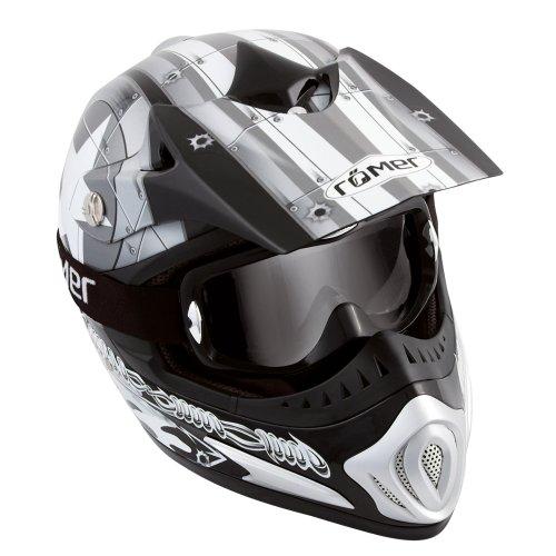 Römer Starcross Casque de Moto Motocross/MX, Noir/Argenté, XL (61-62 cm)