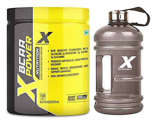 X Supplement BCAA 2:1:1, Instantized Energy drink for Workout BCAA Pre/Post Workout & Intra Workout Supplement | Recovery | Muscle Protein Synthesis, L-Glutamine [30, Mix Fruit] Free Gym Gallon Shaker