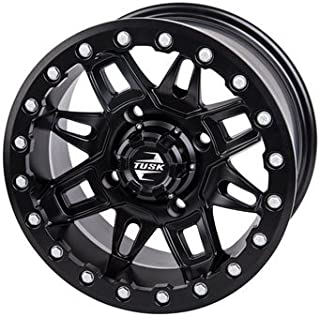4/156 Tusk Wasatch Beadlock Wheel 15x7 5.0 + 2.0 Matte Black for Polaris RANGER RZR XP 4 1000 HIGH LIFTER Edit. 2017-2018
