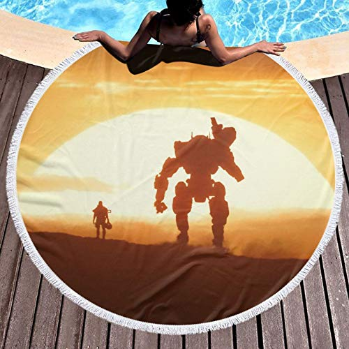 Juego titanfall Toalla de baño de viaje para playa, spa, yoga, súper absorbente, rápido y de secado suave, de gran tamaño