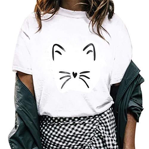 Tosonse - Golf-T-Shirts für Damen in Weiß, Größe L