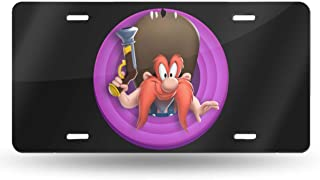 MELISSI Oui-A Metal Particular Looney Tunes Yosemite Sam License Plate Car Tag 6
