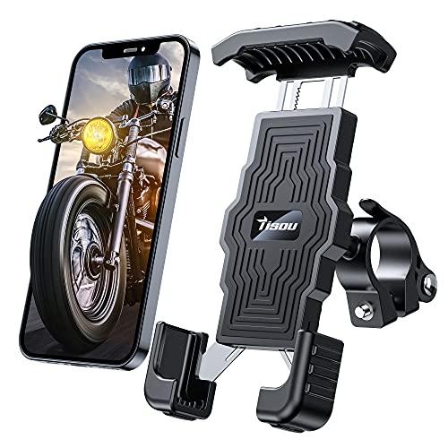 """Tisoutec Handyhalterung Fahrrad Motorrad Fahrrad Handyhalterung 360° Verstellbare Mountainbike Halter für iPhone / Samsung / Huawei / XIAOMI Serie Telefon mit Einer Größe Zwischen 4\""""-7\"""""""